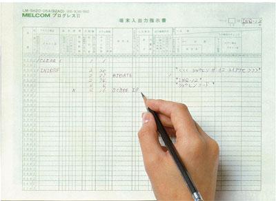 図 プログレスIIの記入シート